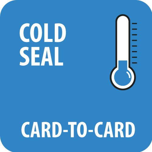 Cold sealing card to card